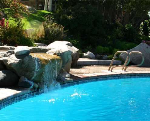 Pool & Rock Waterfall