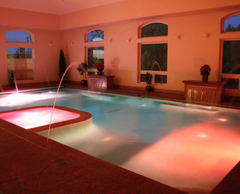 Indoor Pool & Spa with Mood Lighting