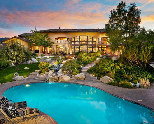 Custom Pool in Natural Landscaping