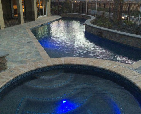 Custom Pool with Spa