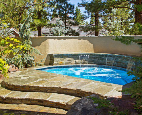 Natural In-Ground Hot Tub