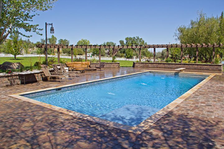 Community Pool with Patio