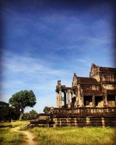 Building in Cambodia visit with Kaanect Travel
