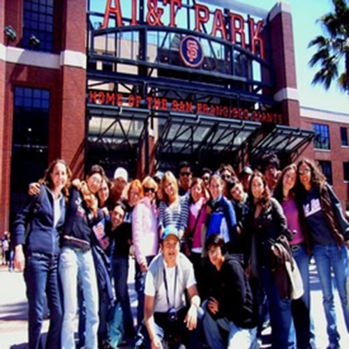 Students on a field trip at San Francisco's AT&T park for a Giants game