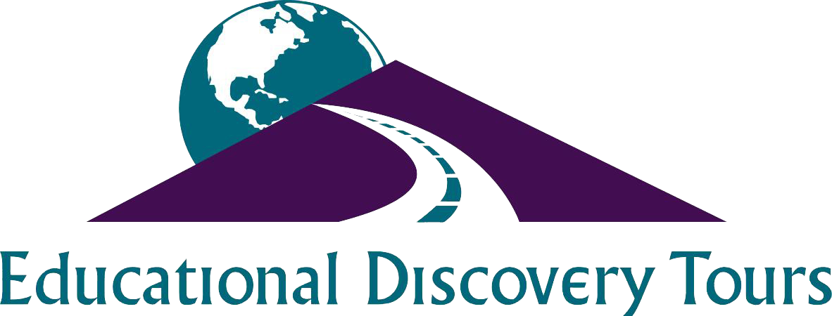 Educational Discovery Tours logo with road leading to the globe