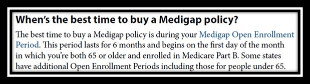When to sign up for a Medicare Supplement Plan